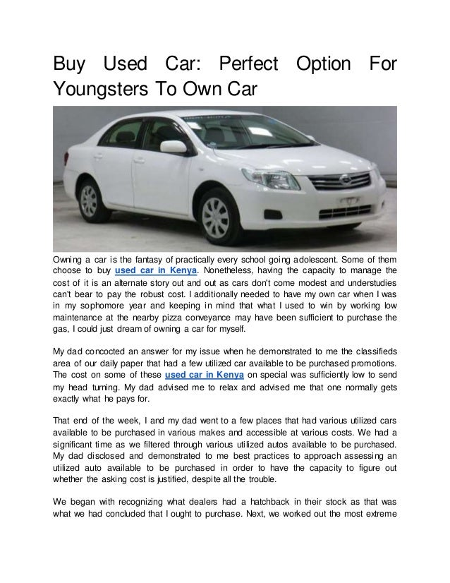 Buy used car: perfect option for youngsters to own car