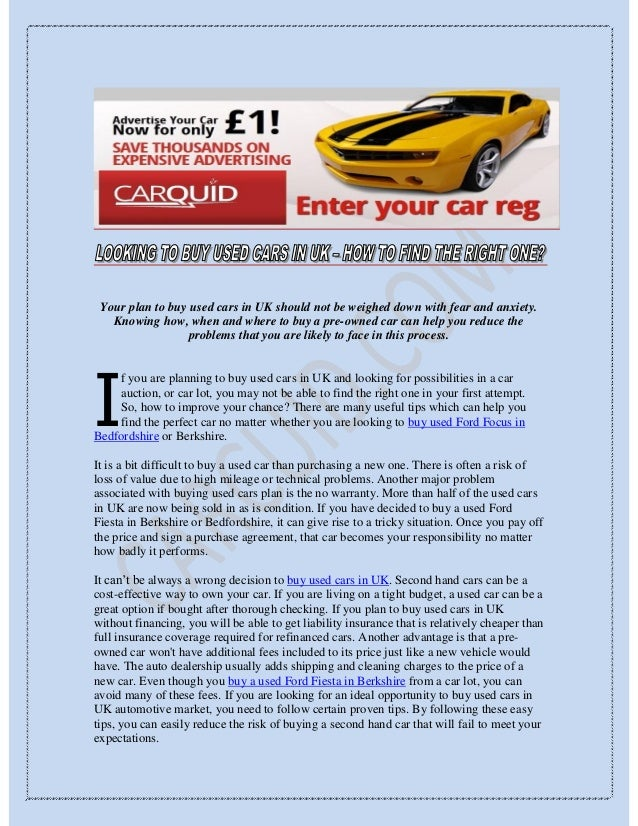 Buy Used Cars In Uk Document