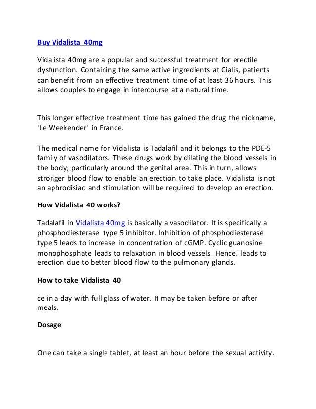 Buy Vidalista 40mg Medypharma