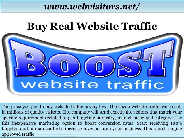 buy traffic for dating website With revisitors' innovative approach to internet marketing, you can buy targeted traffic and receive hundreds of website visitors from our network without having to produce costly marketing material, such as banners, flyers or text ads.