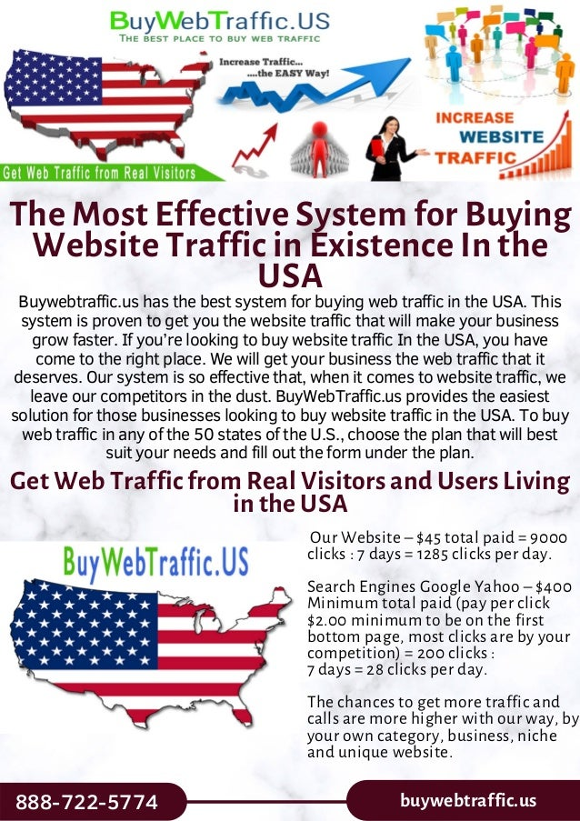 The Most Effective System for Buying Website Traffic in Existence In the USA Buywebtraffic.us has the best system for buyi...