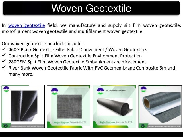 Buy Woven Geotextile products online at Ningbo Honghuan