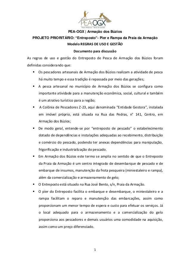 """PEA-OGX   Armação dos Búzios   PROJETO PRIORITÁRIO: """"Entreposto""""- Píer e Rampa da Praia da Armação                        ..."""