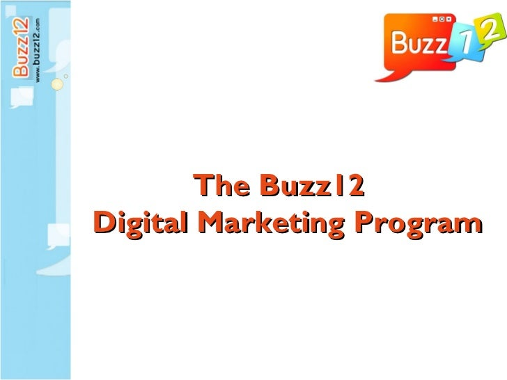 The Buzz12  Digital Marketing Program