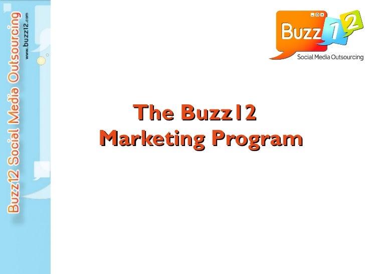 The Buzz12  Marketing Program