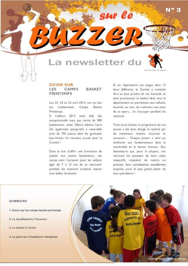 ZOOM SUR LES CAMPS BASKET PRINTEMPS Les 23, 24 et 25 avril 2014, ont eu lieu les traditionnels Camps Basket Printemps. Si ...