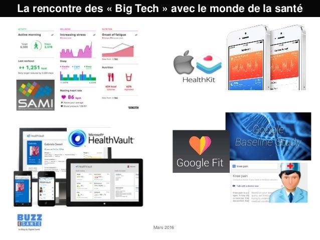 Mars 2016 La rencontre des « Big Tech » avec le monde de la santé