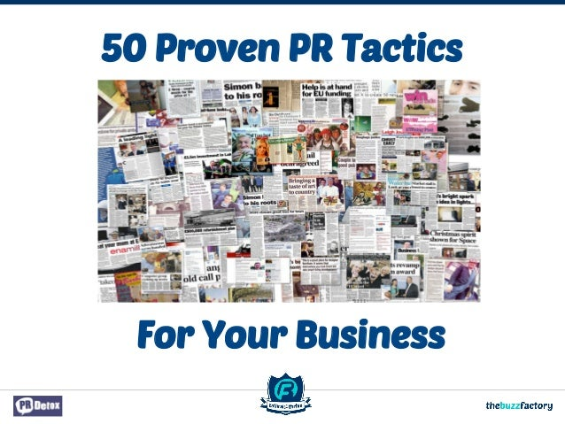 50 Proven PR Tactics For Your Business