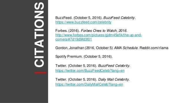 BuzzFeed Channel Analysis: BuzzFeed Celebrity