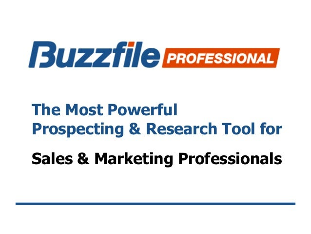The Most Powerful Prospecting & Research Tool for Sales & Marketing Professionals