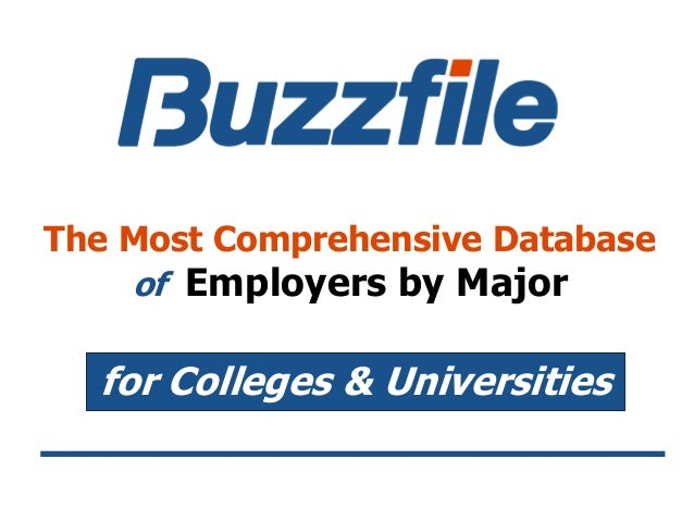 The Most Comprehensive Database of Employers by Major for Colleges & Universities