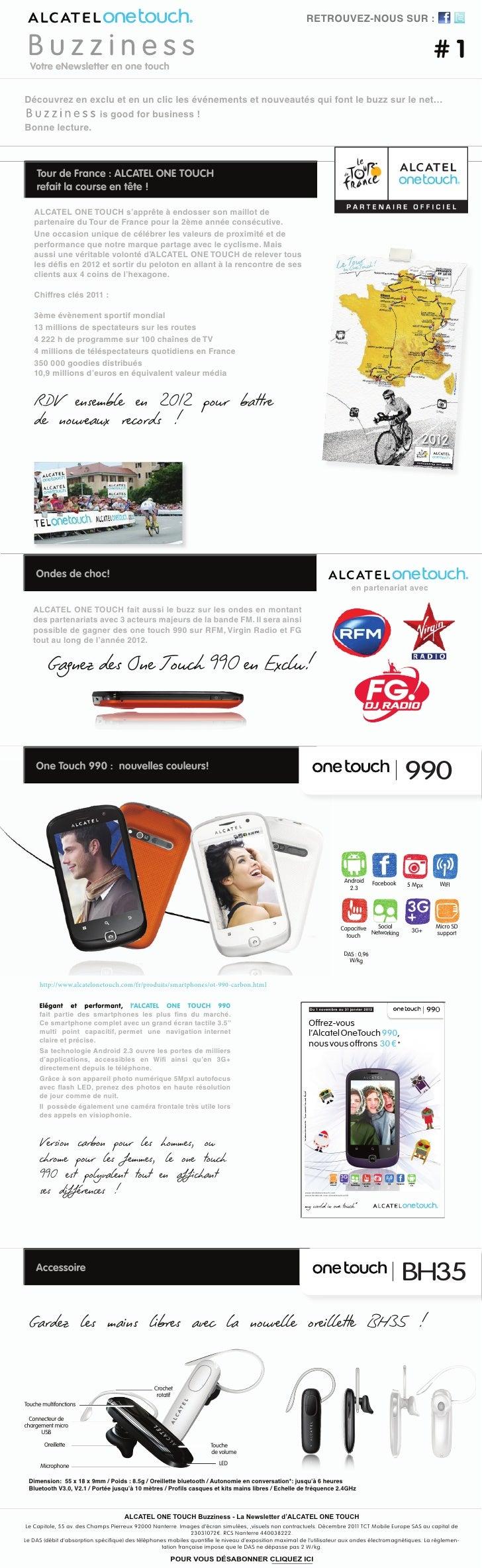 RETROUVEZ-NOUS SUR :  Votre eNewsletter en one touch                                                                      ...