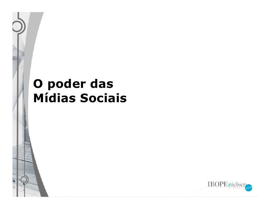 O poder das Mídias Sociais