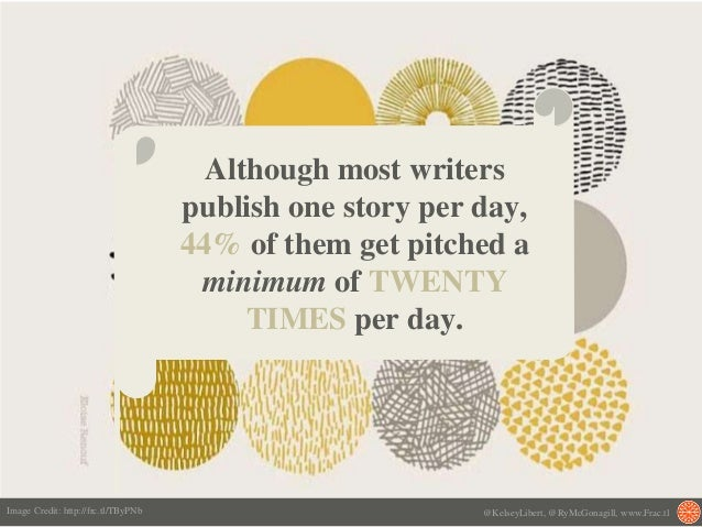 Although most writers publish one story per day, 44% of them get pitched a minimum of TWENTY TIMES per day. @KelseyLibert,...