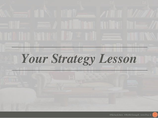 Your Strategy Lesson @KelseyLibert, @RyMcGonagill, www.Frac.tl