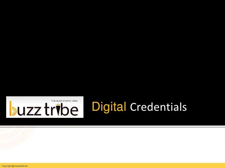 Digital Credentials<br />