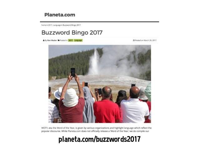 Buzzword Bingo 2017 Slide 3