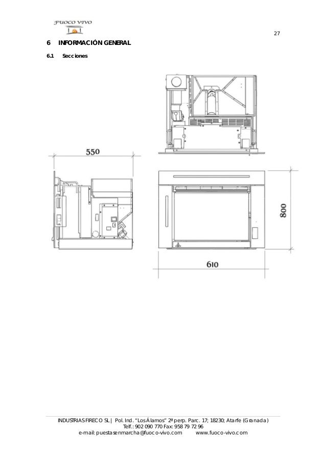 Manual de instrucciones de insertable de pellet Misti
