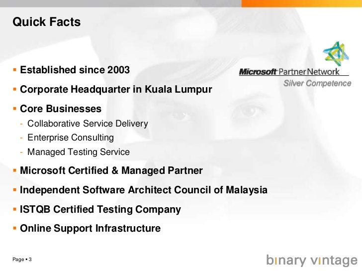 Page 3<br />Quick Facts<br />Established since 2003<br />Corporate Headquarter in Kuala Lumpur<br />Core Businesses<br />...