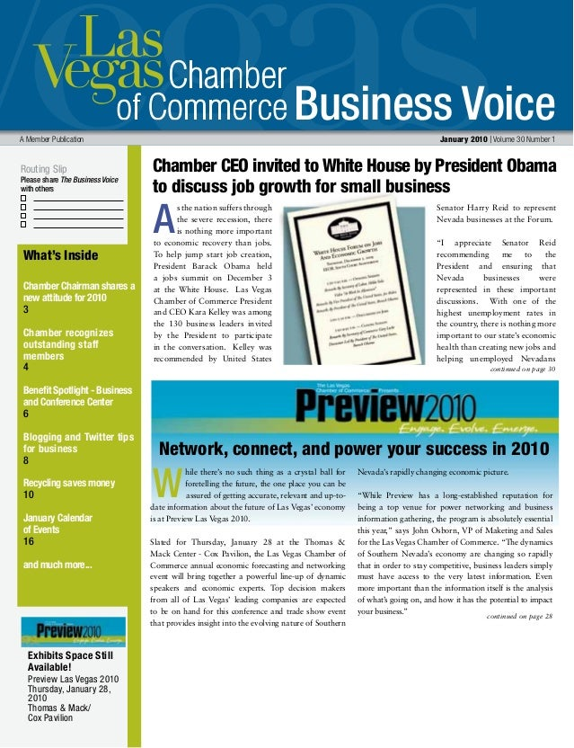 Business Voice Routing Slip Please share The Business Voice with others A Member Publication  January 2010 | Volume 30 Nu...