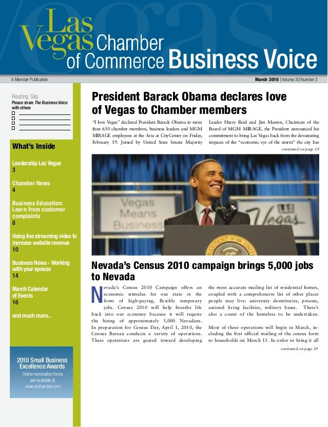 Business Voice Routing Slip Please share The Business Voice with others Online nomination forms are available at www.lvcha...