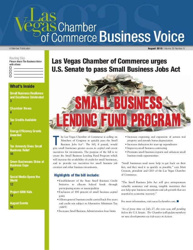 Business Voice Routing Slip Please share The Business Voice with others A Member Publication 	 August 2010 | Volume 30 Num...