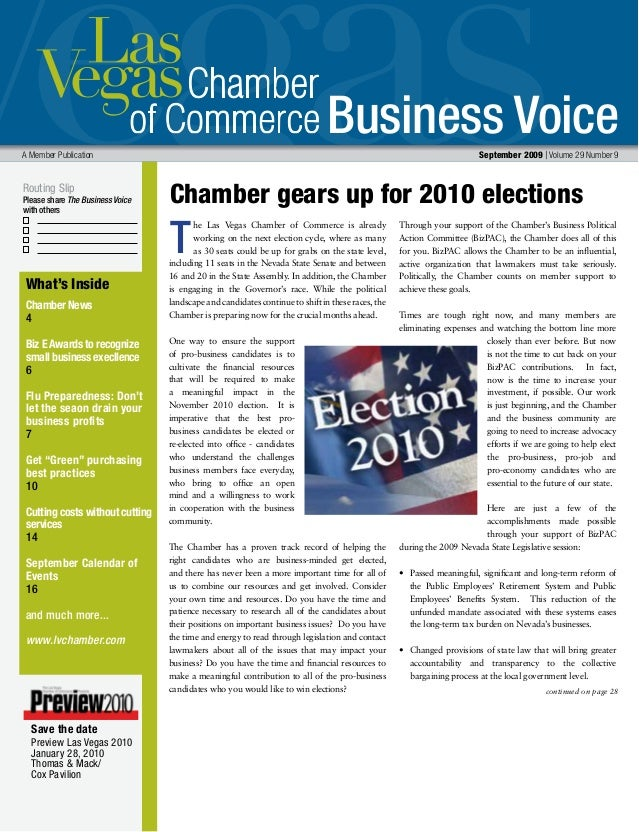 Business Voice Routing Slip Please share The Business Voice with others A Member Publication 	 September 2009 | Volume 29 ...