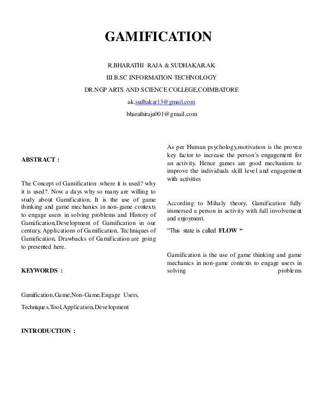GAMIFICATION  R.BHARATHI RAJA & SUDHAKAR.AK  III B.SC INFORMATION TECHNOLOGY  DR.NGP ARTS AND SCIENCE COLLEGE,COIMBATORE  ...