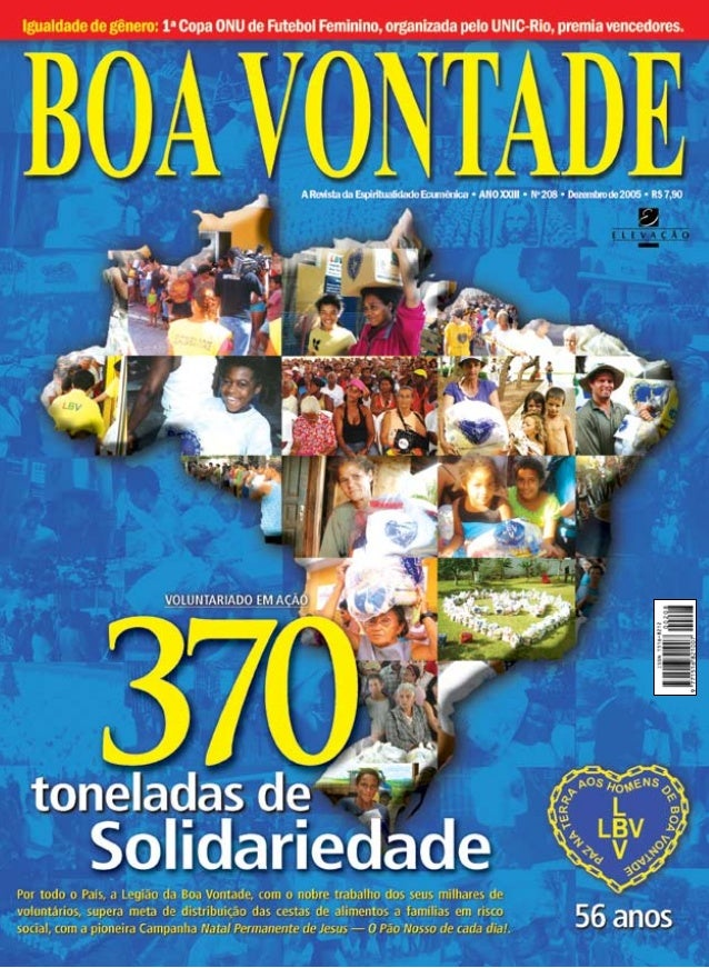 Cartas Parabenizo a revista BOA VONTADE pela edição nº 205. Gostaria também  de cumprimentar a ... 7aec6a455a5bc