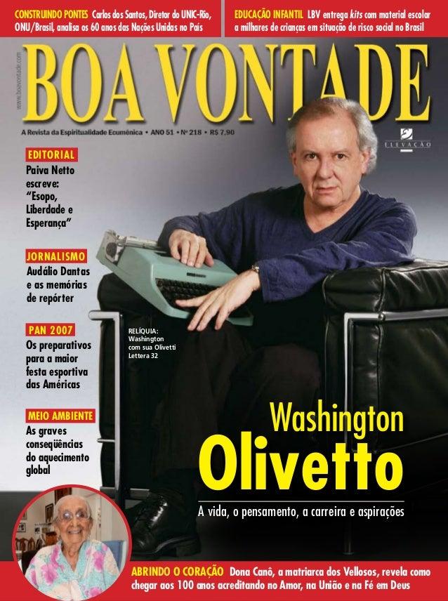 5bbebace1 Revista Boa Vontade, edição 218