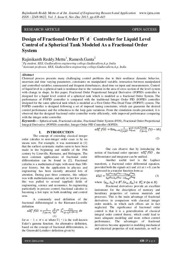 Rajinikanth Reddy Mettu et al Int. Journal of Engineering Research and Application ISSN : 2248-9622, Vol. 3, Issue 6, Nov-...