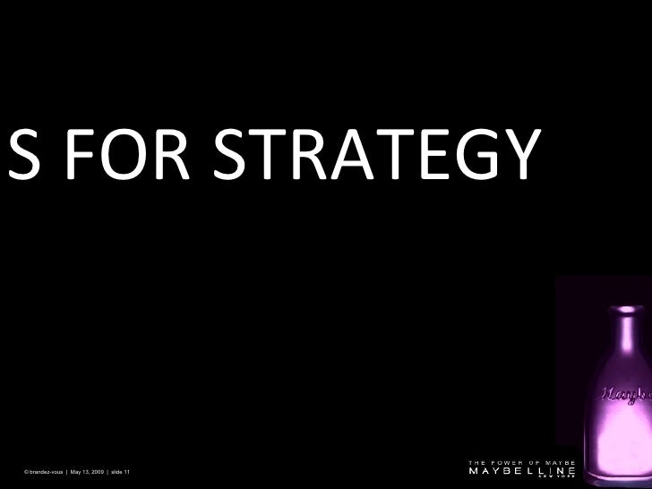 S FOR STRATEGY © brandez-vous  |  May 13, 2009  |  slide