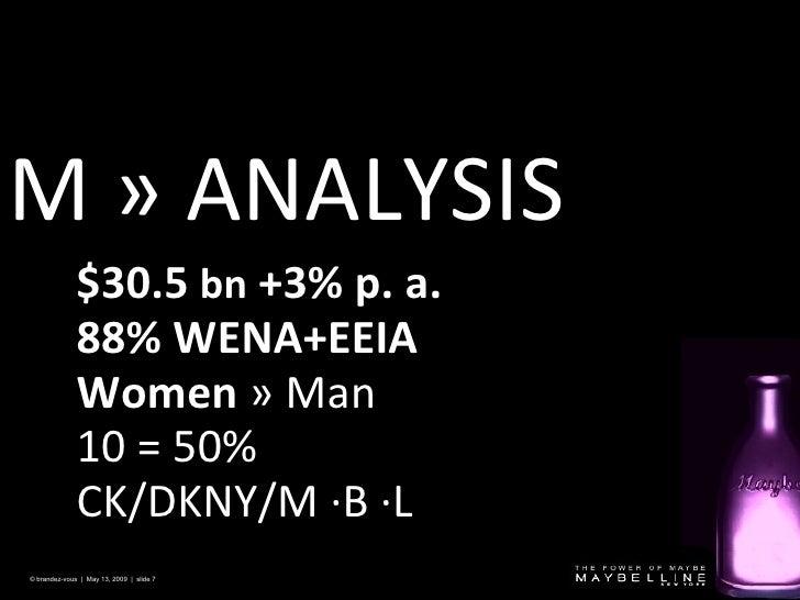M »  ANALYSIS © brandez-vous  |  May 13, 2009  |  slide  $30.5  bn  +3% p. a.  88% WENA+EEIA Women   »  Man  10 = 50%  CK/...