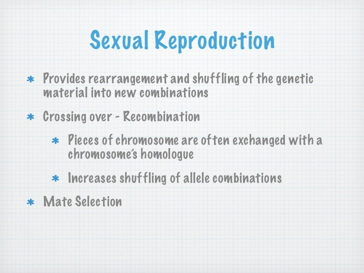 Genetic diversity sexual reproduction