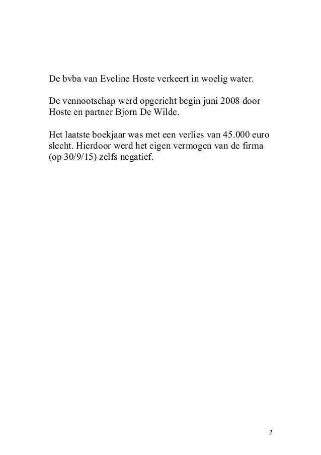 Bvba van Eveline Hoste in woelig water Slide 2