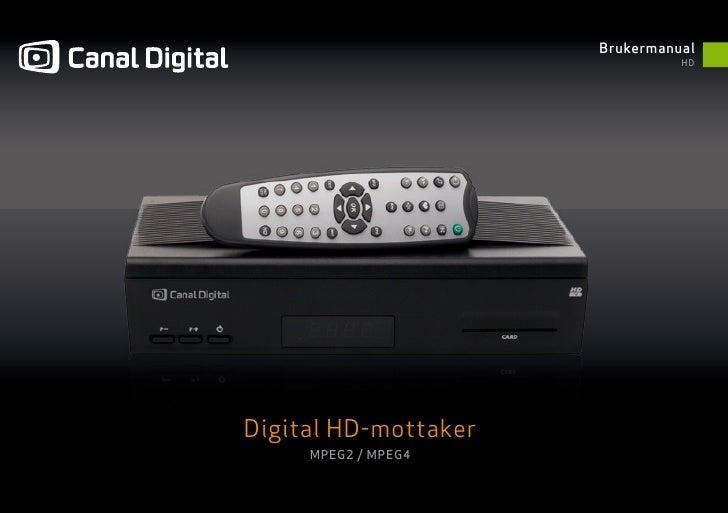 Brukerveiledning: Canal Digital HD-dekoder