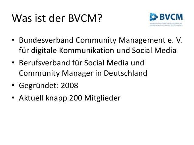 BVCM-Berufsbilder (Social Media Manager / Community Manager) #moca14 Slide 2