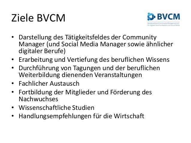 BVCM-Berufsbilder (Social Media Manager / Community Manager) #moca14 Slide 3
