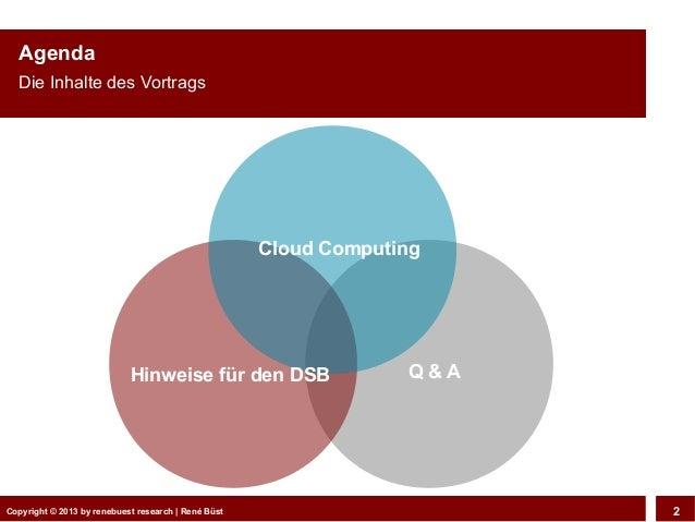 """Cloud Computing - """"Entscheidungshilfe für den Datenschutzbeauftragten"""" Slide 2"""