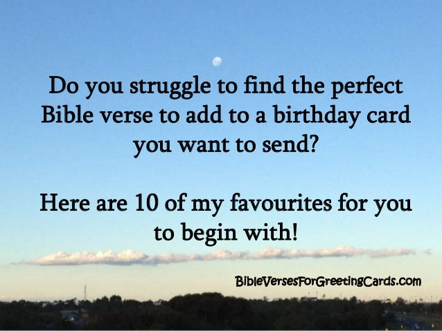 Bible Verses For Birthday BibleVersesForGreetingCards 2