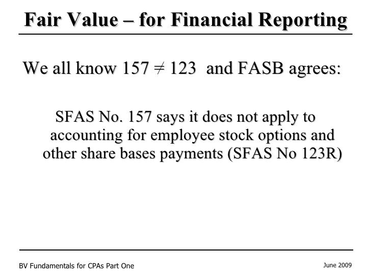 Gaap employee stock options