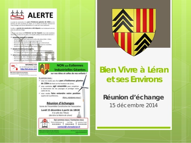 Bien Vivre à Léran et ses Environs Réunion d'échange 15 décembre 2014
