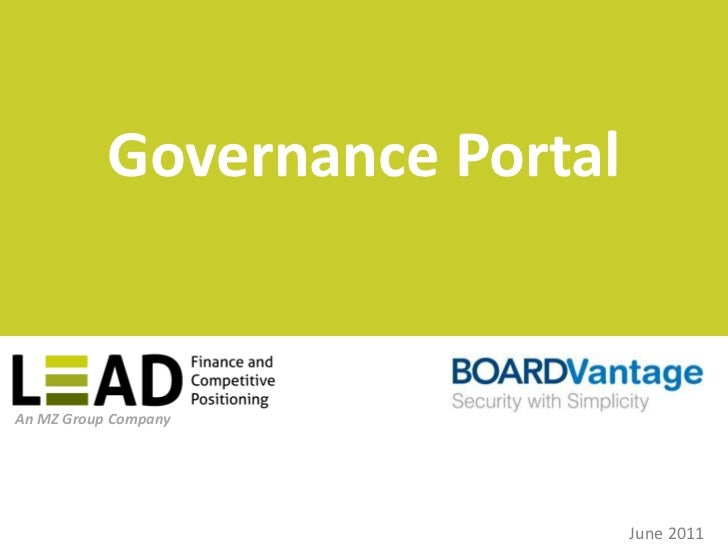 Governance Portal<br />June 2011<br />