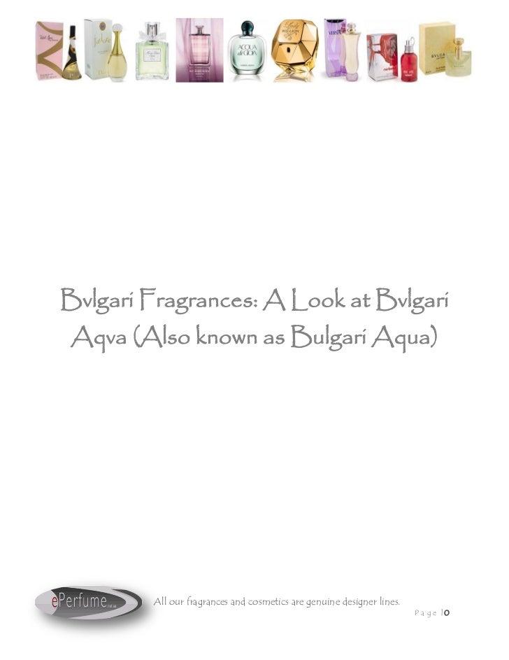 Bvlgari Fragrances A Look At Bvlgari Aqva Also Known As Bulgari Aqu