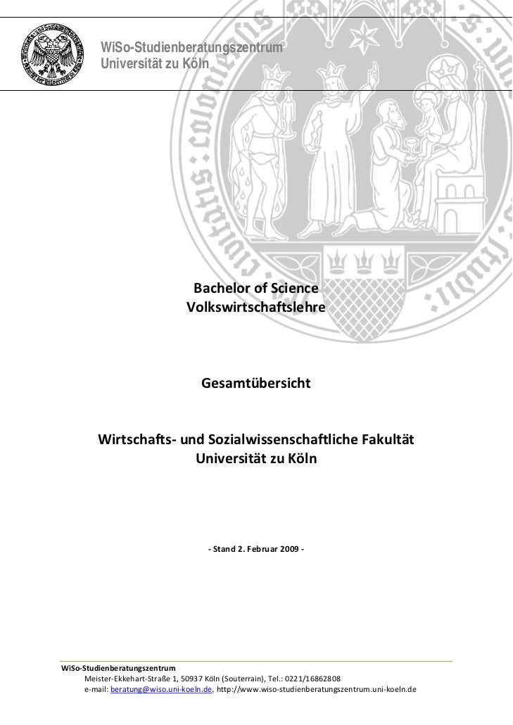 WiSo-Studienberatungszentrum          Universität zu Köln                        BachelorofScience        ...