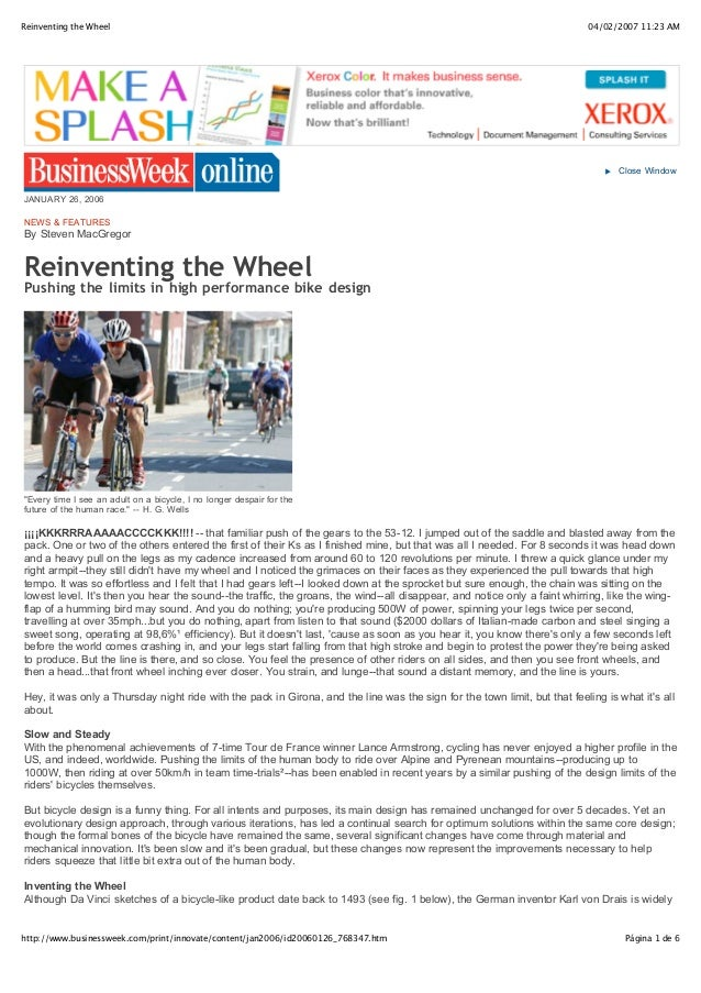 Reinventing the Wheel                                                                                                     ...
