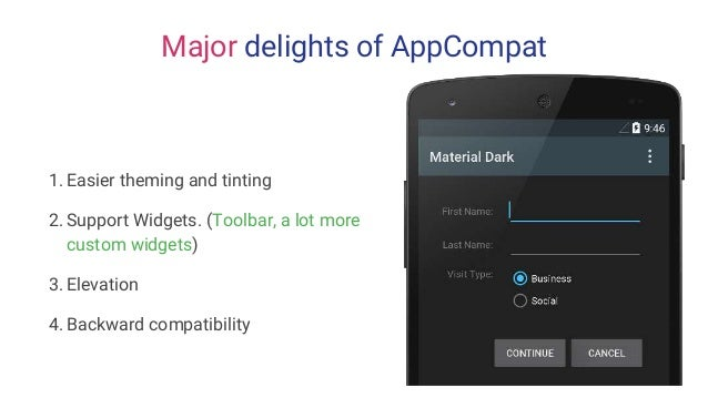 Building Material Apps on Android