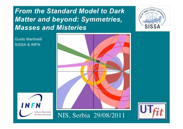From the Standard Model to DarkMatter and beyond: Symmetries,Masses and MisteriesGuido MartinelliSISSA & INFN             ...