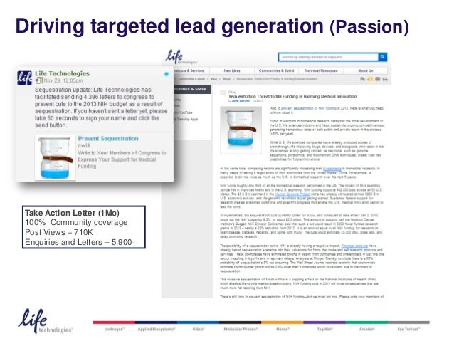 Driving targeted lead generation (Passion) Take Action Letter (1Mo) 100% Community coverage Post Views – 710K Enquiries an...