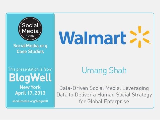 Umang ShahData-Driven Social Media: LeveragingData to Deliver a Human Social Strategyfor Global EnterpriseThis video is fr...